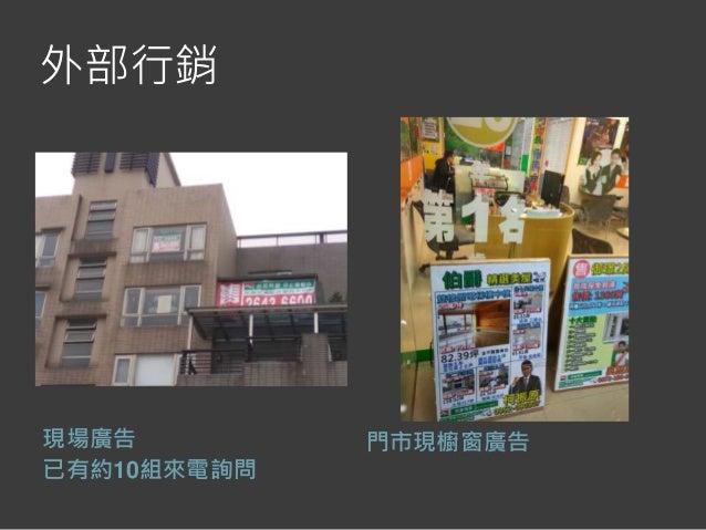 外部行銷 現場廣告 已有約10組來電詢問 門市現櫥窗廣告