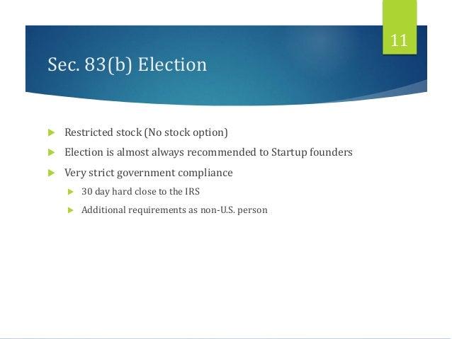 83 b election iso stock options