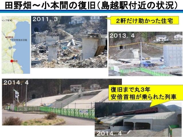 田野畑~小本間の復旧(島越駅付近の状況)