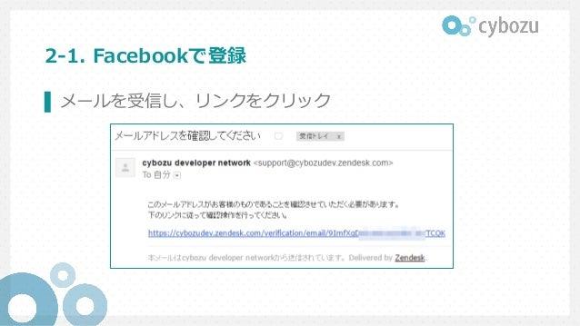 2-1. Facebookで登録 ▌ メールを受信し、リンクをクリック