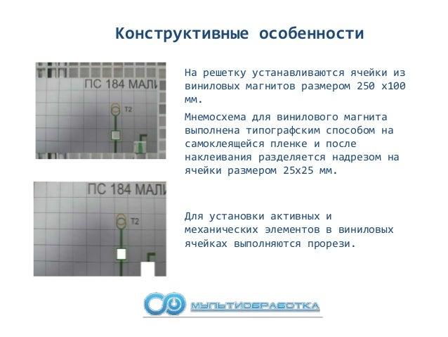 Конструктивные особенности Активные ячейки, информационные шлейфы и шлейфы электропитания размещаются внутри полотна щита....
