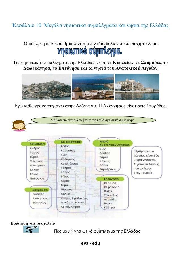 Γεωγραφία Ε΄. 2. 9. ΄΄ Μεγάλα συμπλέγματα και νησιά της Ελλάδας΄΄ 4f908bf3fca