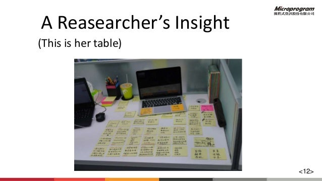 A Reasearcher's Insight (This is her table) <12>
