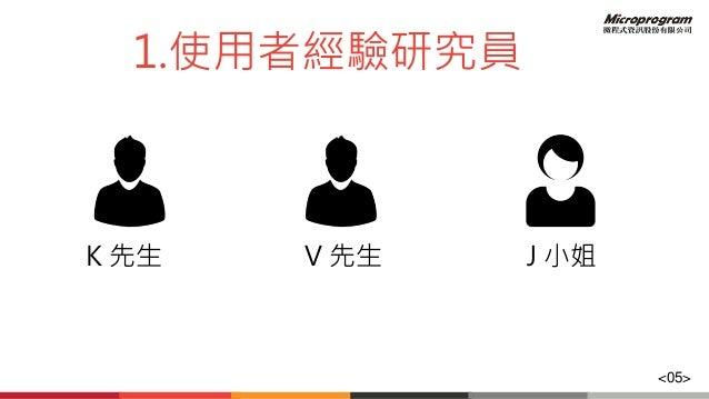 1.使用者經驗研究員 K 先生 V 先生 J 小姐 <05>