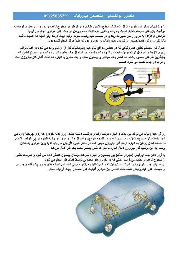 هیدرولیک متخصص ابوالقاسمی منصور90759859190 به توجه با عمل این و بود ناهموار سطوح در گرفتن ق...