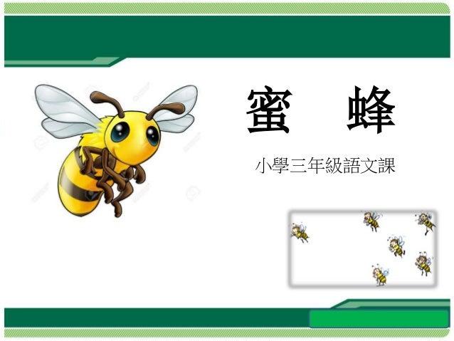 小學三年級語文課 蜜 蜂