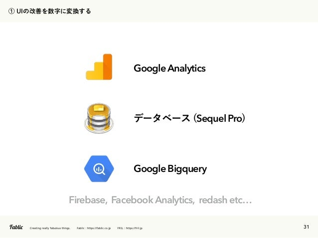 32 Sequel Pro Google Bigquery Google Analytics Firebase, Facebook Analytics, redash etc…