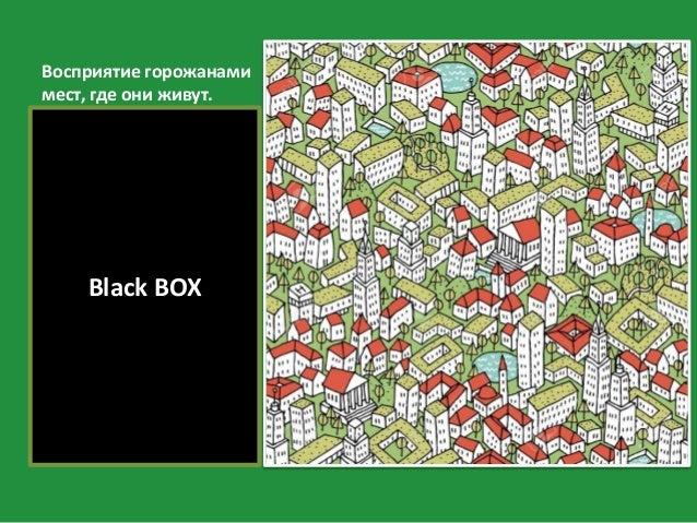 Восприятие горожанами мест, где они живут. Black BOX