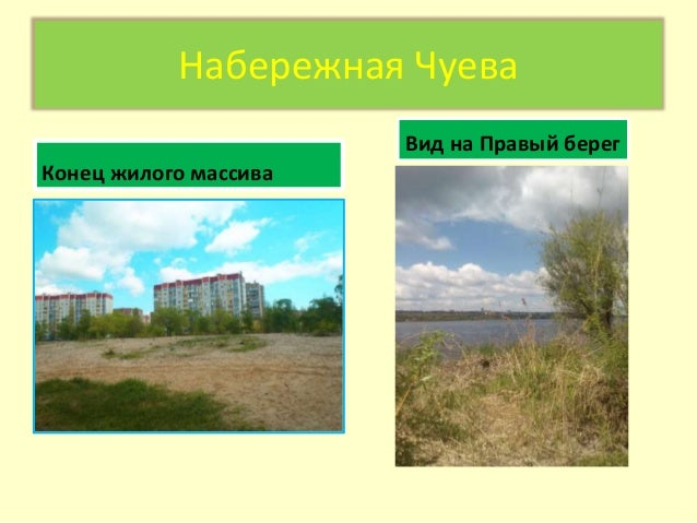 Набережная Чуева Конец жилого массива Вид на Правый берег