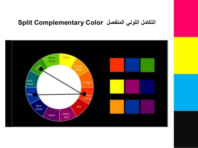 اللوني التكاملالمنفصلSplit Complementary Color