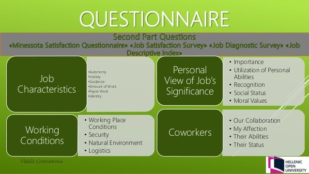 Fall 2013 Job Satisfaction Case Study - PSYCH 484: Work ...
