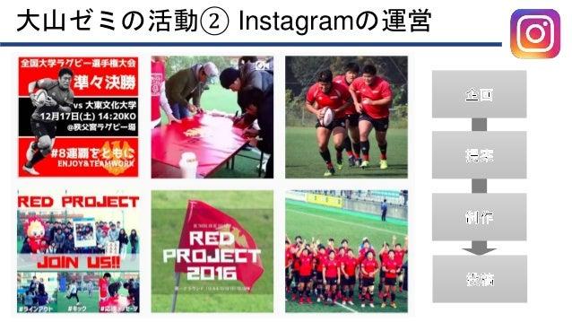 大山ゼミの活動② Instagramの運営