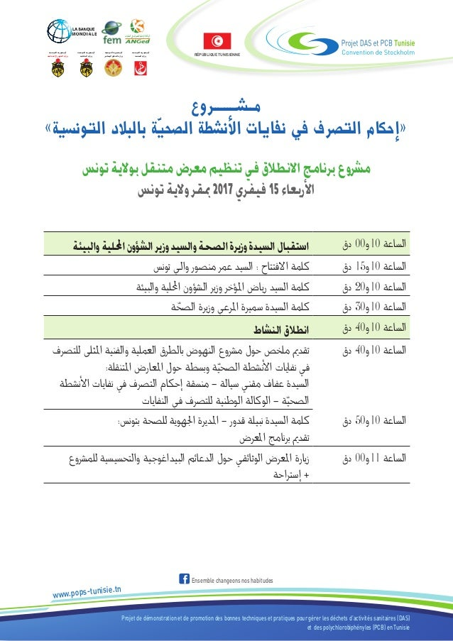 Projet de démonstration et de promotion des bonnes techniques et pratiques pour gérer les déchets d'activités sanitaires (...