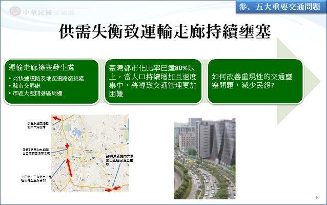 供需失衡致運輸走廊持續壅塞 6 參、五大重要交通問題