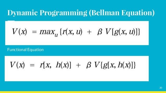 Dynamic Programming (Bellman Equation) Functional Equation 20