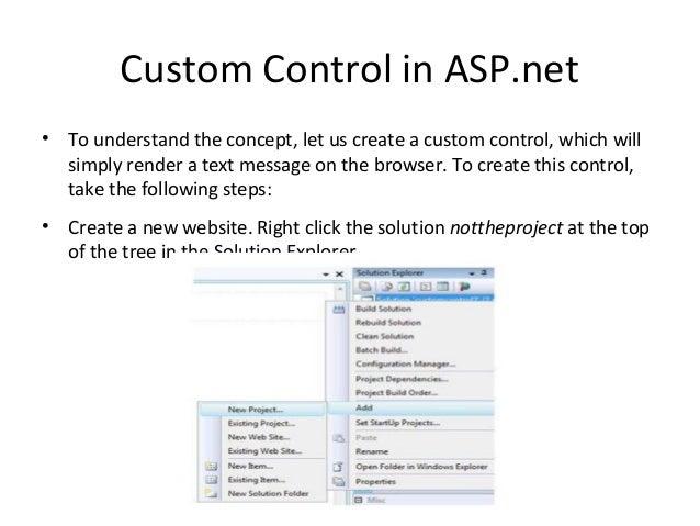 Custom Controls in ASP net