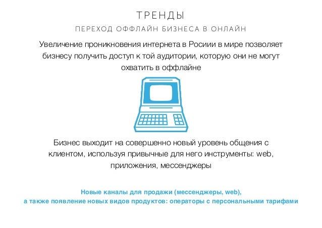 Увеличение проникновения интернета в Росиии в мире позволяет бизнесу получить доступ к той аудитории, которую они не могут...
