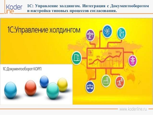 1 1С: Управление холдингом. Интеграция с Документооборотом и настройка типовых процессов согласования.