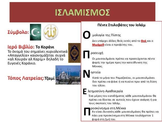 που χρονολογούνται στους κανόνες του Ισλάμ
