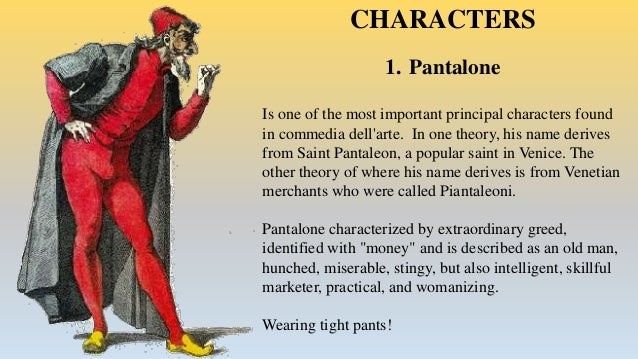 Commedia del arte character analysis and traits pantalone