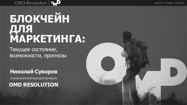 I N S I G H T S • I D E A S • R E S U L T S БЛОКЧЕЙН ДЛЯ МАРКЕТИНГА: Николай Суворов (7ADA0762976027E4DC5D827FCD79B229) OM...
