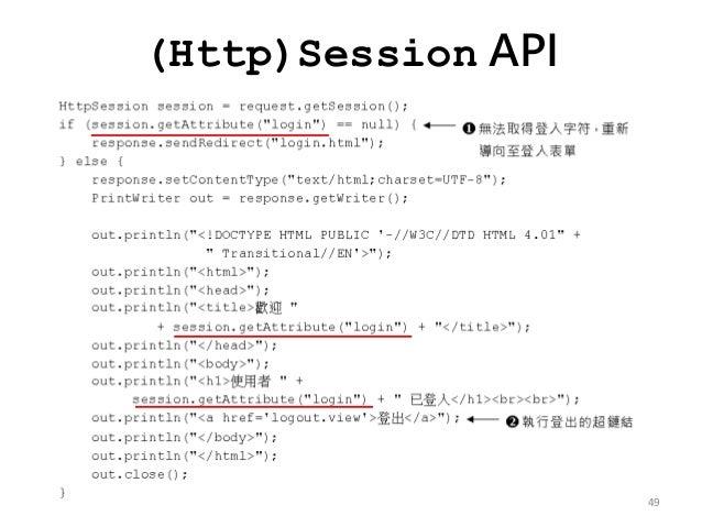 (Http)Session API 49