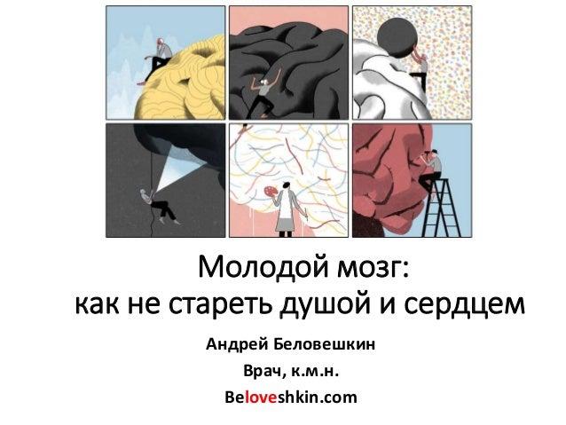 Молодой мозг: как не стареть душой и сердцем Андрей Беловешкин Врач, к.м.н. Beloveshkin.com