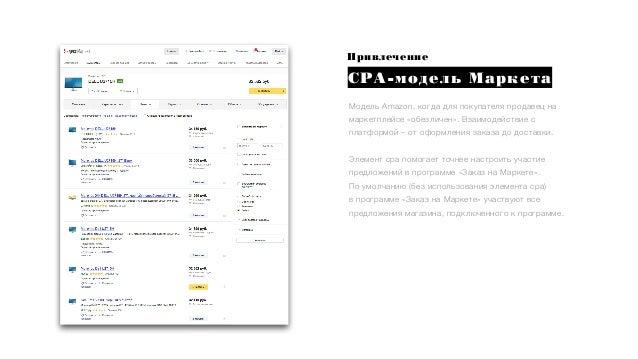 Привлечение СРА-модель Маркета Модель Amazon, когда для покупателя продавец на маркетплейсе «обезличен». Взаимодействие с ...