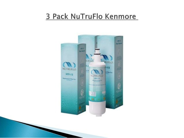 kenmore 46 9690. 3 pack nutruflo kenmore 46-9690 lg adq36006101, easy to install, compatible refrigerator water filter 46 9690