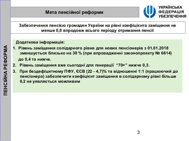 Пенсійна реформа доповідь на ЦКР. Третьякова Галина Slide 3