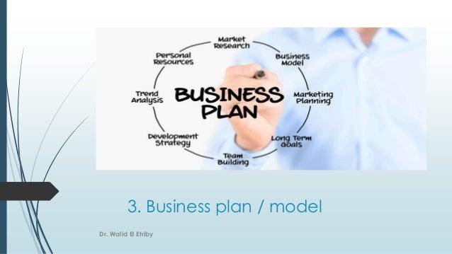 3. Business plan / model Dr. Walid El Etriby
