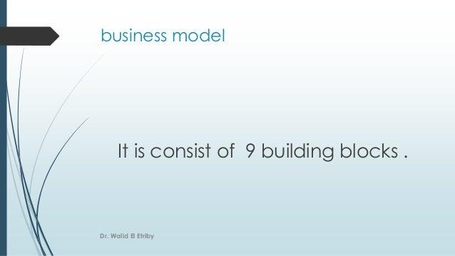 It is consist of 9 building blocks . business model Dr. Walid El Etriby