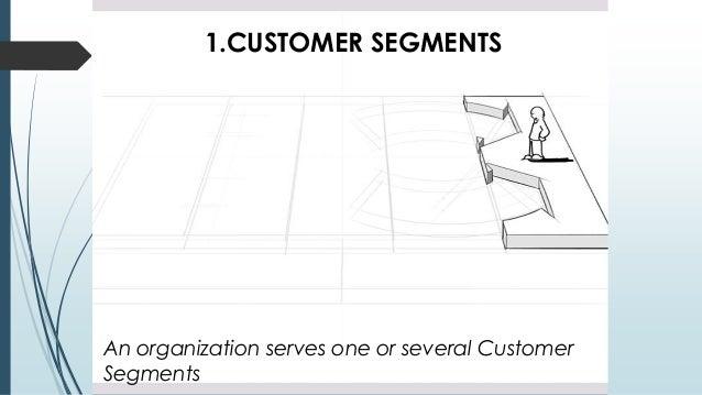 1.CUSTOMER SEGMENTS An organization serves one or several Customer Segments