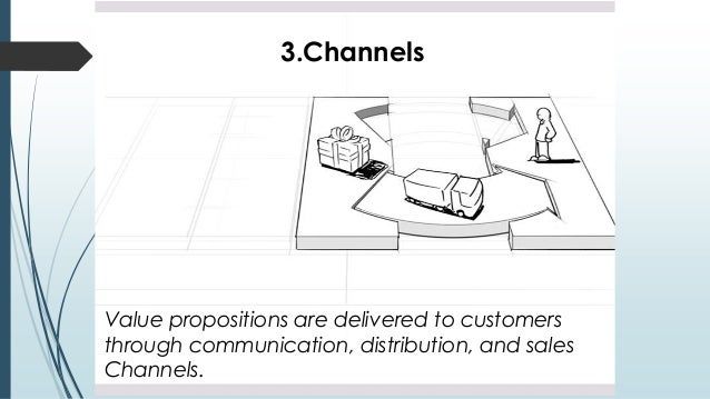 3.Channels Value propositions are delivered to customers through communication, distribution, and sales Channels.