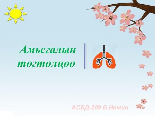 Амьсгалын тогтолцоо АСБД-209 Б.Номин
