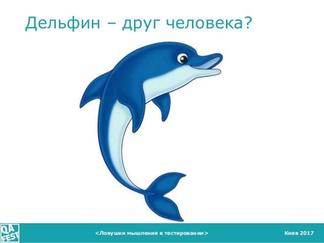 Киев 2017 Дельфин – друг человека? <Ловушки мышления в тестировании>