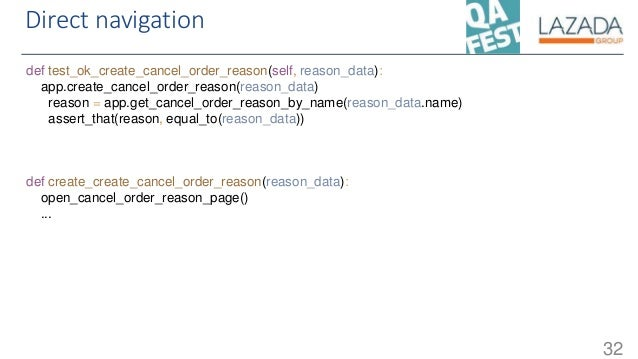 Direct navigation 32 def test_ok_create_cancel_order_reason(self, reason_data): app.create_cancel_order_reason(reason_data...