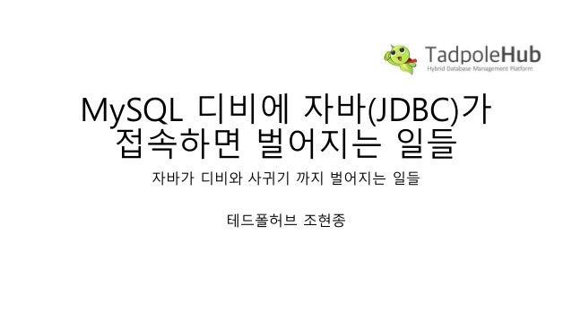 MySQL 디비에 자바(JDBC)가 접속하면 벌어지는 일들 자바가 디비와 사귀기 까지 벌어지는 일들 테드폴허브 조현종
