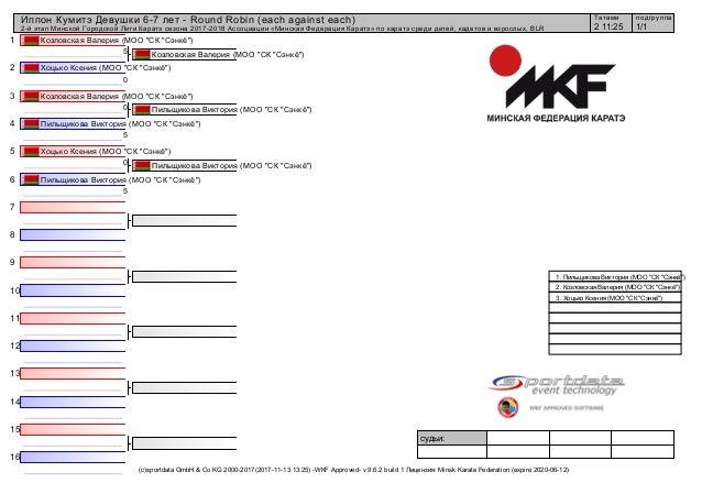 1 2 3 4 5 6 7 8 9 10 11 12 13 14 15 16 судьи: (c)sportdata GmbH & Co KG 2000-2017(2017-11-13 13:25) -WKF Approved- v 9.6.2...