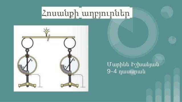 Հոսանքի աղբյուրներ Մարինե Իշխանյան 9-4 դասարան