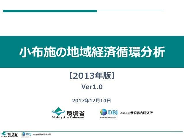 小布施の地域経済循環分析 2017年12月14日 【2013年版】 Ver1.0