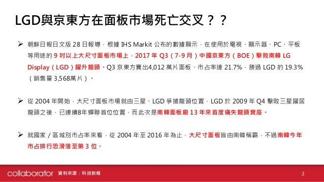 大尺寸面板市場-中國京東方擊敗南韓LGD龍頭地位 Slide 2