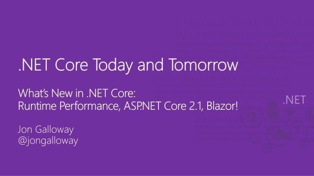 .NET Core Today