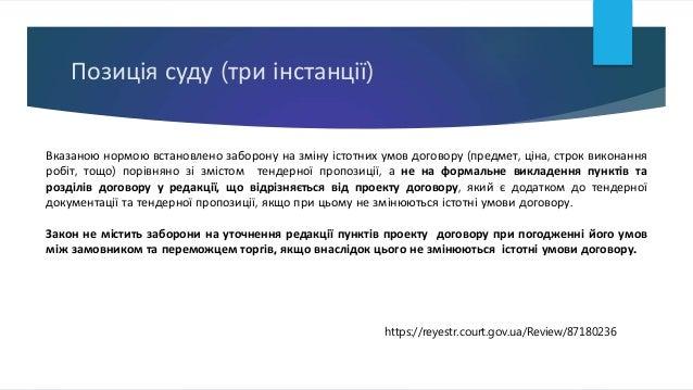 Позиція суду (три інстанції) Вказаною нормою встановлено заборону на зміну істотних умов договору (предмет, ціна, строк ви...