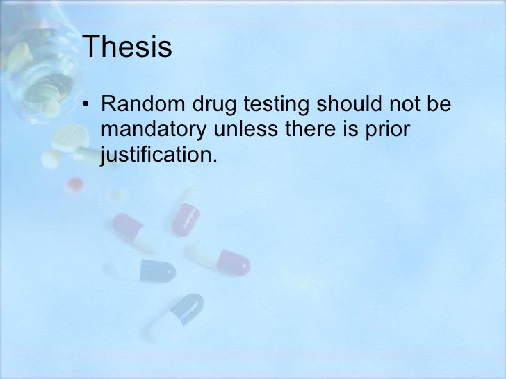 should middle school students be drug tested