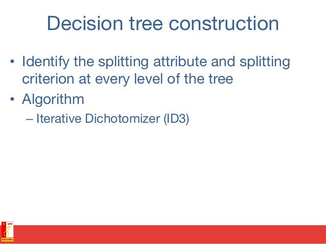 Splitting attribute selection • The algorithm uses the criterion of information gain to determine the goodness of a split...