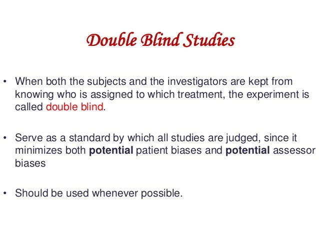 how to run double blind