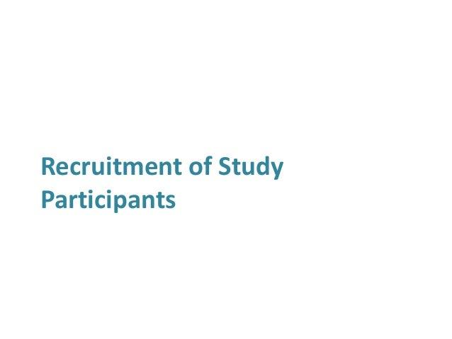 Recruitment of Study Participants