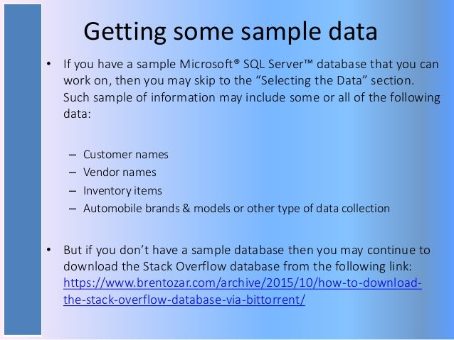 Randomizing Data With SQL Server