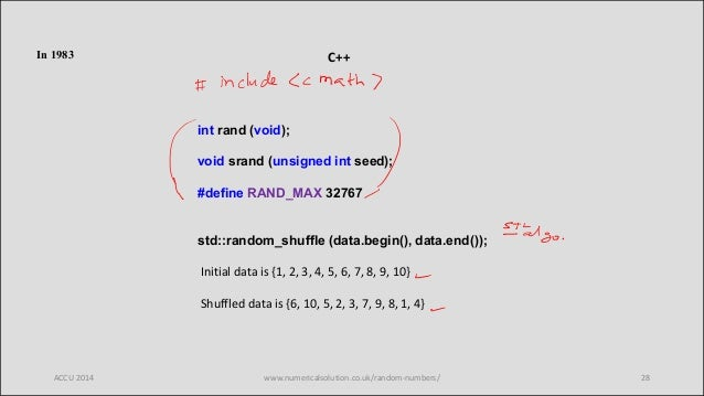 Random number generation (in C++) – past, present and